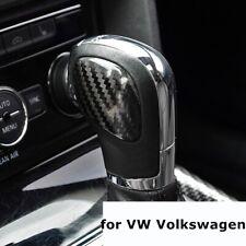 for VW Volkswagen DSG Car Gear Shift Knob Panel Cover Real Carbon Fiber Stickers