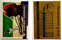Vladimir Guerrero Signed 2001 Fleer Tradition #198 Card Montreal Expos Auto