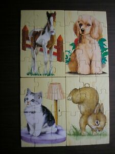 Melissa & Doug Animal Pet Friends Puzzles in a box - Dog Cat Rabbit Horse