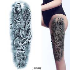 Full Arm Tattoo XXL Einmal Tattoo Maria mit Rosenkranz Religion  44x15cm QKM-002