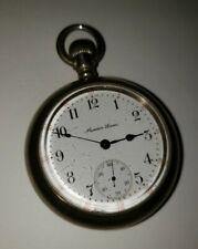 1910 Rockford Watch Co. Pocket Watch 18S 17J G935 Model 9/ Maiden Lane Dial Face