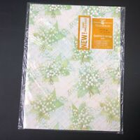 NOS VTG Wrapping Paper Scrapbook Lilly of the valley American Greetings Wedding