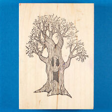 Lg Halloween Tree Rubber Stamp by Stamp Me Tender - Happy Spooky Bare Dead Tree