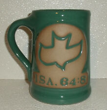 "Pottery Mug Stein Potter's Field Ministries 5"" Green Dove ISA. 64:8"