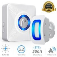 [UK Plug] Home Security Wireless Alarm Doorbell Garage Motion Sensor Detector