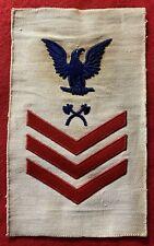 1905-1913 Pre-Ww1 White Usn U.S. Navy Po1 Rate — Carp Mate — Red Chevrons