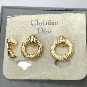 CHRISTIAN DIOR Vintage Clip-On Earrings Dead stock Display only JUNK