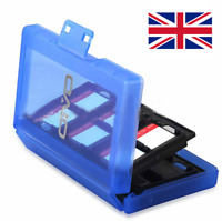 Nintendo Switch Game Card Holder Cartridge Storage Organizer Case 24 in 1 Blue