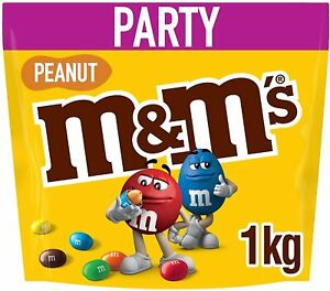 M&Ms Peanut Chocolate Party Bag Sharing Party Bag Pouch MMs New Pack of 1 kg