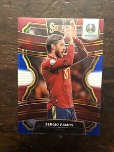 SERGIO RAMOS 2020 Panini Select UEFA Euro Soccer Tri-Color Prizm - Spain