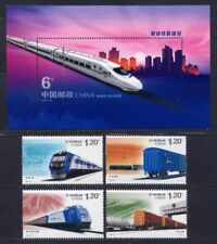 CHINA 2006-30 Railway Construction stamp + S/S Transport train 和諧鐵路