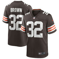 New 2020 NFL Nike Cleveland Browns Jim Brown Game Retired Player Edition Jersey