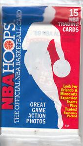 1989-90 Hoops Unopened Pack - MICHAEL JORDAN All Star #21 on Top