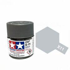 Tamiya 10ml X-11 Vernice acrilica Argento cromato - Mini Acrilico vernici