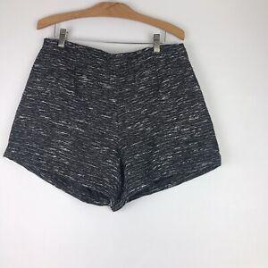 """Women OLD NAVY Black/WhiteLined Shorts Size 8"""" Textured! NWOT"""