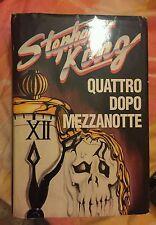 Libro stephen king QUATTRO DOPO MEZZANOTTEcopertina rigida lingua italiana1°edi