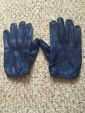 Men's Driving Blue Large Leather Gloves