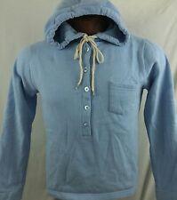 Orvis Womens Blue Button Pullover Hoodie Sweatshirt Medium M