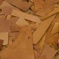 Chrome Tanned Leather Scraps 7-8 ounces Cow hide 1 Pound Pieces Remnants Crafts