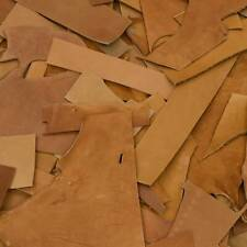 0.5 lb Leather Scraps Large size Tooling Remnants Vegetable Tanned Leather