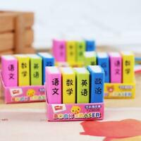 Office Stationery Book Style Eraser Student learning Gi Erasers Pencil D7Y7 O5Q8