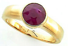 9ct Solid Yellow Gold Ruby Wedding Band Ring R163 Custom