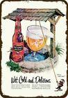 1957 NATIONAL BOHEMIAN BEER & Wishing Well Vintage Look REPLICA METAL SIGN