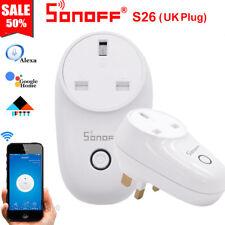 Sonoff S26 UK Plug TFTTT WIFI Smart Power Socket Wireless Time For Alexa Google
