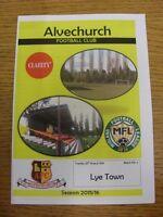25/08/2015 Alvechurch v Lye Town  . Footy Progs/Bobfrankandelvis, experienced se