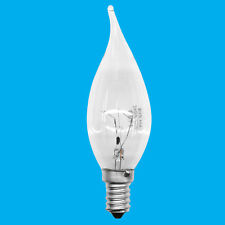 1x 40W Clear Bent Tip Candle Dimmable Light Bulb SES E14 Small Edison Screw Lamp