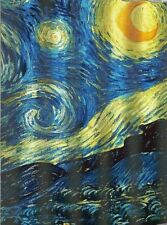 Nice Van Gogh Art Beautiful Blue Yellow Abstract Sky Fabric Shower Curtain