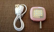 Portable Mini 16 Leds Lamp Fill Light W/ Charge Cable For Mobile Phone Selfie BE