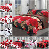 Duvet Cover Set with Pillowcase & Fitted Sheet 3D Effect 4 Piece Bedding Set