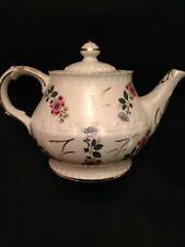 Ellgreave England Teapot #353, Pink/Blue Flowers, Gold Trim & Accents!
