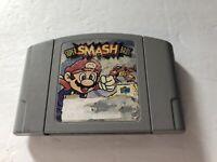 Super Smash Bros. Nintendo 64 N64 Authentic Cartridge TESTED Rough Label 1999