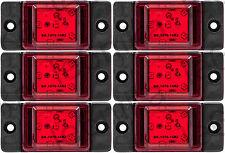 6 pcs Red Side LED Marker Lights Lamps HGV Truck Trailer Lorry 24V (6 SMD LEDs)