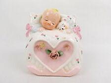 Vintage Ceramic Planter Nursery Baby Teddy Bear #4909 Made in Japan #2359