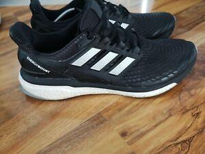 adidas Energy Boost mens running Shoes size 12 UK Black White AQ0014