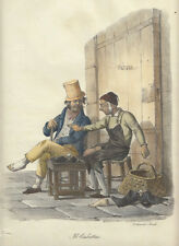 Il ciabattino, 1827 Morner Cuciniello e Bianchi lito acquarellata
