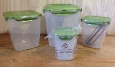New listing Lock N Lock Set of 4 Green Nesting Storage Containers Hpl365