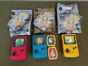 Lot Of 3 Mini Game Boy Collectibles Pokemon Burger King Toy