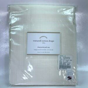 Pottery Barn Foundations Drapes Curtains Textured Ivory Classic 63 x 50 Inches