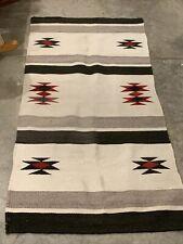 """Southwestern Saddle Blanket Rug Vintage 58"""" x 29"""""""