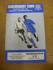 22/03/1969 Shrewsbury Town v Bournemouth  (Light marks). Thanks for viewing this