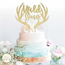 Wild One cake topper first birthday antlers first birthday outfit baby boy