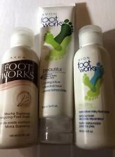 Avon Foot Works Aloe Mint Beautiful Cooling Lotion&Milky Foot Soak & Mocha Soak