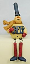 Sitting snowman with dangling legs and Cheer on him - New Blossom Bucket#80590C
