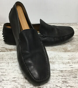 Tods Black Leather Driving Loafers/Moccasins Slip On Men Size 10