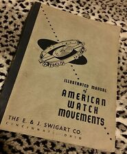Swigart 1952 incredible 210-page American Pocket Watch Movements Reference Book