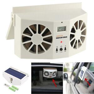 Solar Powered Car Window Air Vent Ventilator Mini Air Conditioner Cool Fan 1PCS